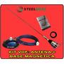 Kit Vhf Steelbras: Antena 1/4 + Base Magnética Top De Linha