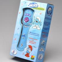 Microfone De Brinquedo Infantil Os Smurfs Azul - Cks