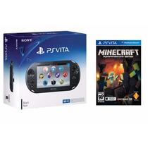 Psvita Ps Vita Com Game Minicraft Wi-fi Slim Novo Garantia