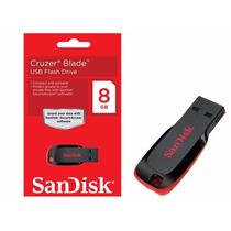 Pen Drive Sandisk 8gb Cruzer Blade Barato 10 Unidades