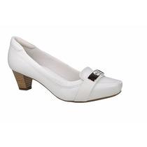 Sapato Branco Feminino De Couro Enfermagem Neftali Ref.5034