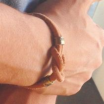 Pulseira Masculina Couro Genuíno Bracelete Cardin Design