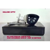 Kit Dvr Tribido Ahd-m 4 Canais + 4 Câmeras 1.3mp 40m