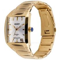 Relógio Orient Masculino Quadrado Dourado Aço Ggss1007 S2kx