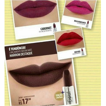 Kit Batom Eudora Marrom+ Cabernet+rosa Marcante+red Kiss