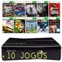 Xbox 360 Slim 4gb  + Gta 5 + Pes 2017 + Call Of Duty