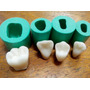 Molde De Silicone Jogo De Dentes 4 Cavidades