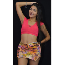 Top C/bojo + Shorts Saia R16973 Atacado Frete Barato