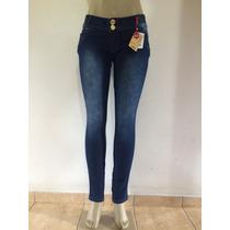 Calça Feminina Skinny Cintura Média W. Pink Jeans Com Zíper