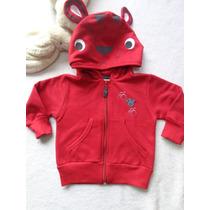 Jaqueta Moletom Infantil Capuz Urso Vermelha Have Fun Hf0192