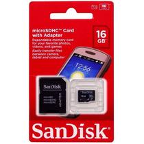 Cartão De Memória Micro Sd Sandisk Lacrado 16gb +leitor
