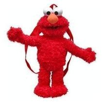 Plush Backpack Sesame Street Elmo Boneca Ver. 2 Brinquedos