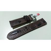 Pulseira Croco Relógios - 22mm Dk Tommy Tissot Seiko Armani