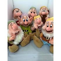 Kit Sete Anões Da Branca De Neve Pelúcia 32cm Disney Store