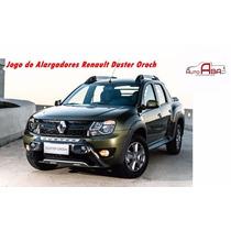 Alargadores De Paralamas Renault Duster Oroch Preto Autoaba