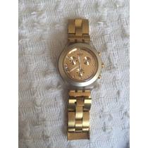 Relógio Swatch Dourado Feminino