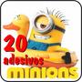20 Adesivos Minions Decorativos Com Frete Grátis