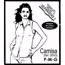 Molde De Costura Camisa Sem Manga Feminina P/m/g