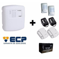 Kit Alarme Sem Fio Ecp 4 Zonas C/ Bateria, Sensores