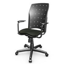Cadeira Presidente Plastica Giratória C/ Relax C/ Braço Eno