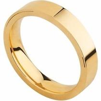 Aliança De Casamento Confort Quadrada G Oca Em Ouro 18k - Gf