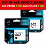 Kit 2 Cartuchos Hp 662 Preto E Color 2516 3516 1516 2546