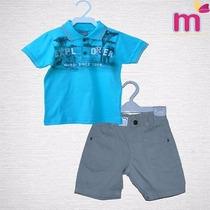 Conj. Infantil Menino Camisa Polo E Bermuda- Brandili Mundi