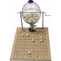 Jogo Bingo Vispora Globo 20cm Brinde 300 Cartelas