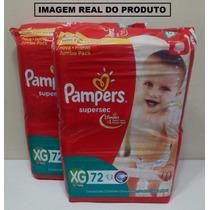 Pacote De Fralda Pampers Supersec Jumbo Pack Xg 144 Unidades