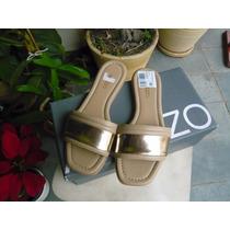 Rasteirinha Arezzo Dourada