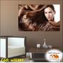 Adesivo Salão De Beleza Modelo Cabelo Escova Pente Will301