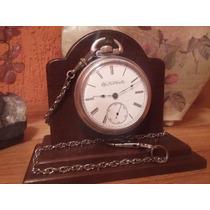 Incrível Relógio Bolso Elgin Timekeeper Porcelana- Usa /1890