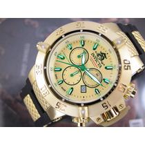 Relógio Invicta Subaqua Reserve Suiço Plaque Ouro 90111