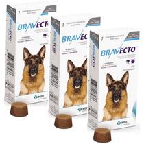 Bravecto 20 A 40 Kg Combo Com 3 Cxs