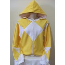 Blusa Moletom Feminino Estilizado Power Rangers Amarelo