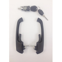 Kombi 97... Kit Par De Maçanetas Externas + Cilindro Ignição