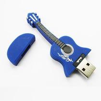 Pendrive Personalizado 4 Gb Violão Azul, Musica