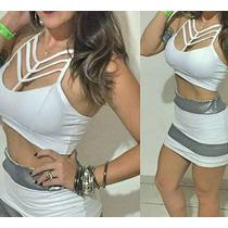 Top Cropped Tirinhas Tira Liso Blusa Feminina Decotado Lindo