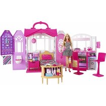 Barbie Casa De Férias Portátil Com Boneca - Mattel Cfb65