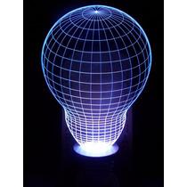 Luminária Led 3d, Abajur E27 C/adaptador De Tomada, Lâmpada