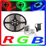 Fita Led 5m Rgb Auto Adesiva Prova D'agua + Controle + Fonte