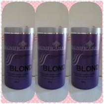 Kit 3 Unidades De Pó Descolorante - Magnific Hair 500 Gr Cd