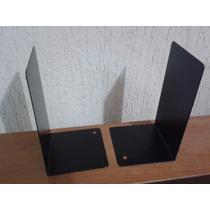 Suporte Para Livros, Cd, Dvds Bibliocanto Metal Preto (par)