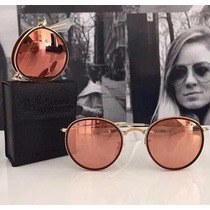 Óculos De Sol Ray Ban Round Rb3517 Rose Dobrável