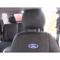 Capas De Banco Couro Ecológico Com Logo Ford P/ Fiesta