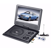 Dvd Portatil 7 Pol Tela Lcd Multimedia Tv Cd Sd Usb Fm Jogos