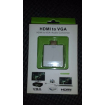 Mini Conversor Adaptador De Hdmi Digital Para Vga Analógico