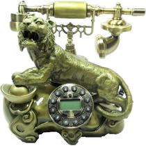 Telefone Retro De Mesa Vintage Tigre = Pronta Entrega