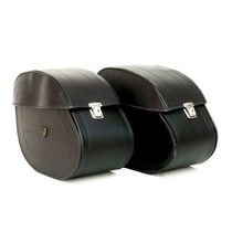 Mala Alforge Moto Lateral Boulevard Midnight Couro Com Chave