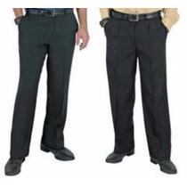 Calça Social Masculina Tecido Oxford Preto